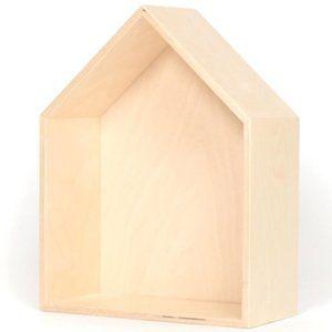 Natural wood house book shelf